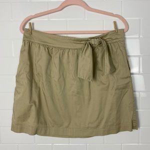 TOMMY HILFIGER Khaki Beige Tie-Up Pocketed Skirt